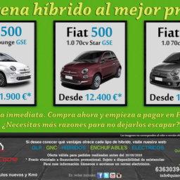 FIAT 500 HIBRIDOS OFERTAS DICIEMBRE