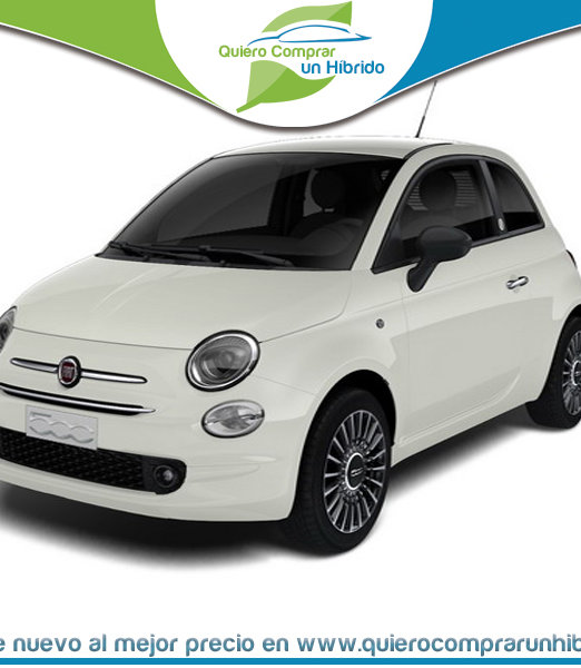 FIAT 500 LAUNCH EDITION HÍBRIDO BLANCO GELATO